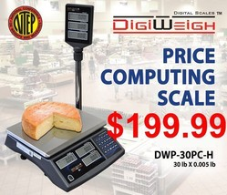 DWP-30PC-H 30 Lb NTEP Legal For Trade Price Computing Scale With Pole - $197.99