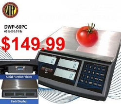 DWP-60PC 60 Lb NTEP Legal For Trade Price Computing Scale - $148.49