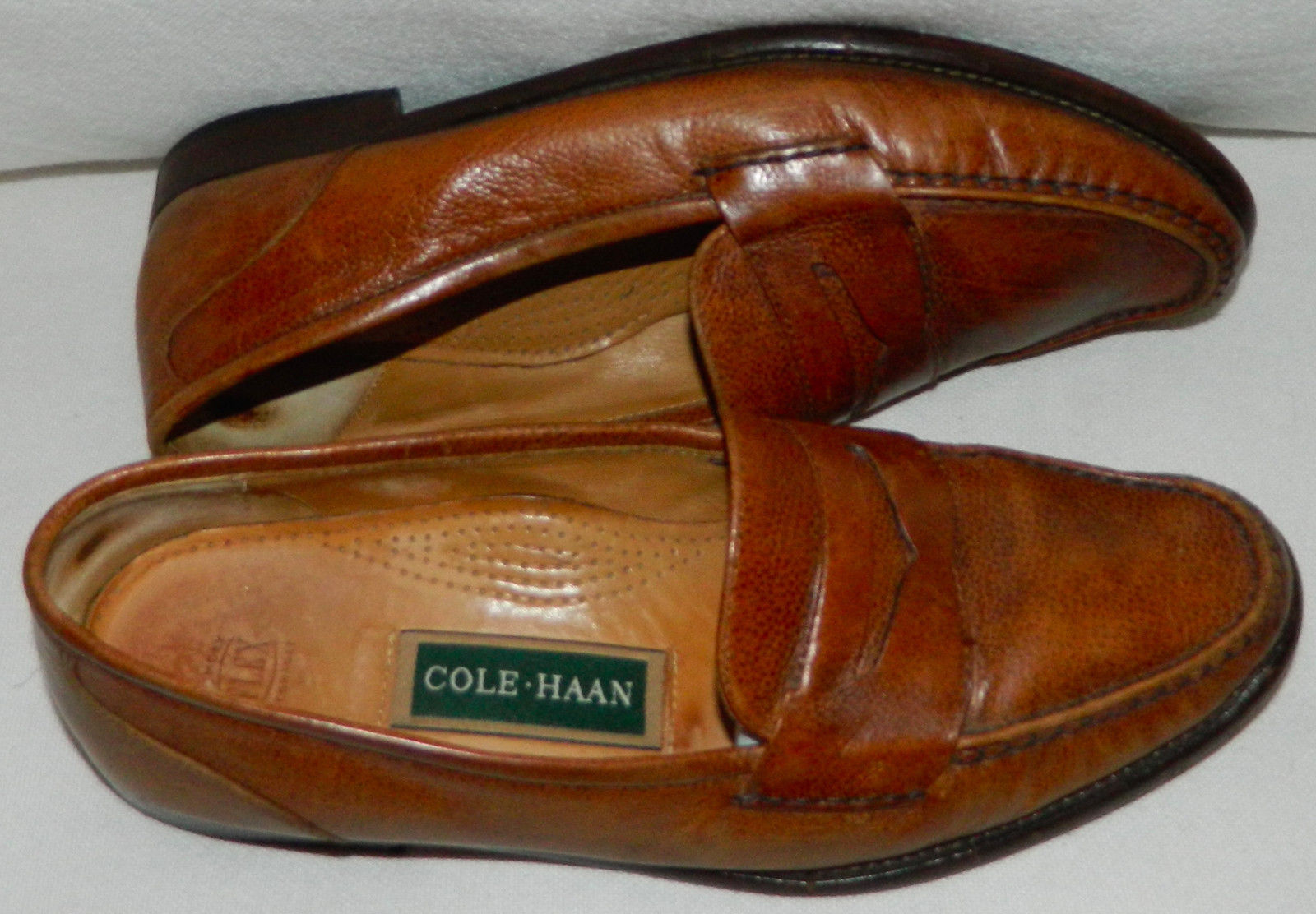 1fe459c585f COLE HAAN Penny LOAFERS Sz. 9 DRESS SHOES Copper BROWN Leather GREAT Look!!