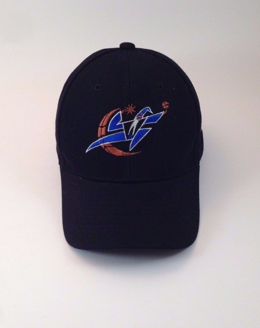 Washington Wizards Basketball NBA Cap Hat One Size Retro Throw Back Black