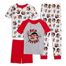 Ryan's World Red Titan Youth 4-Piece Long Sleeve Pajama Set Red - $36.98