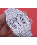24 carats iced out CUSTOM diamond mens cartier ... - $14,849.01