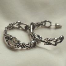Vintage WM Co. Wheeler Native American Sterling Silver Hoop Earrings Pierced - $125.00