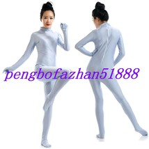 HALLOWEEN COSPLAY SUIT BLUE GRAY LYCRA SEXY BODY SUIT CATSUIT COSTUMES S376 - $32.99