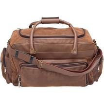 "Embassy Brown Faux Leather 24"" Tote Bag Carry-On Duffel Over Nighter Lug... - $37.95"