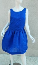 BCBG Max Azaria Dress Saphire Blue  Sleeveless Triered Tulle bubble Party Size M - $55.85