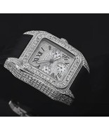 Cartier mens watch custom diamond pave dial sta... - $9,751.50