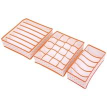 3Pcs/Set Foldable Organizer Storage Box For Underwear Socks Bra Ties Leg... - $25.98