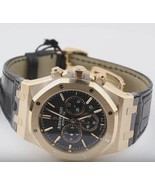 Royal oak chronograph gents AP watch black dial... - $26,916.12
