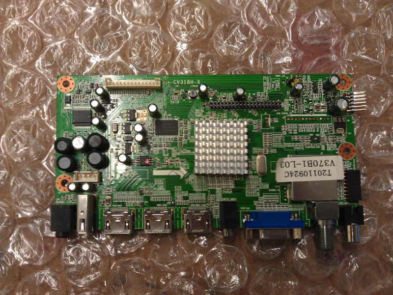 1109H1372 Main Board From Curtis LCD3708A  LCD TV