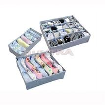 3 Boxes /Lot Storage Boxes Non-Woven Fabric Folding Charcoal Home Decora... - $23.22