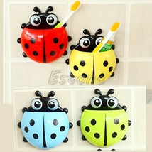 1PC Design Charming Suction Tooth Brush Holder Ladybug Pattern Wall Mounted - $9.80