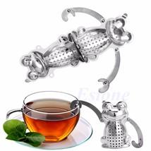 Stainless Steel Cute Frog Diffuser Infuser Tea Leaf Strainer Herbal Spic... - $9.75