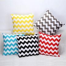 Stripe Cotton Pillow Case Zig Zag Wave 45cm x 45cm - $11.50