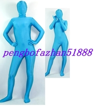 Unisex Lake Blue Lycra Spandex Zentai Full Body Suit Catsuit Costumes S397 - $32.99