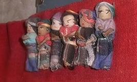 Hand Woven Ceremonial Sash w/ 6 Hand Woven Dolls Folk Art SA  - $9.95