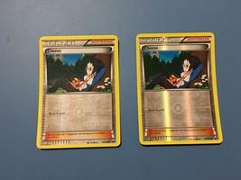 Pokemon Card x2 Reverse Holo Cheren 91/108 Dark Explorers Free Shipping - $4.45