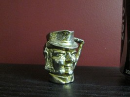 Antique Doll House Miniature Gold Tone Spelter Character Head Jug Beer Pitcher! - $4.90