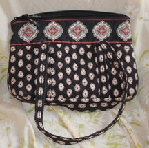 Vera Bradley Pirouette Purse &  check book  holder  Medium Black ~Retiered Nice - $12.87