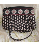 Vera Bradley Pirouette Purse &  check book  holder  Medium Black ~Retier... - $12.87