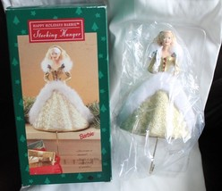 Happy Holidays Barbie Stocking Hanger - New in Box - Christmas Hallmark Mattel  - $13.10