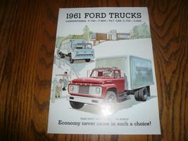 1961 Ford Convential & Tilt Cab F-750 F-800 C-750 C-800 Sales Brochure - $12.59