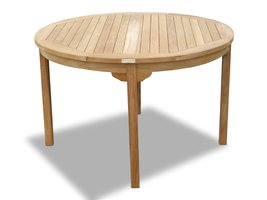 "Windsor's Genuine Grade A Teak,47"" Round Table/45lbs ,5 Yr Wnty, Seats 4  - $795.00"