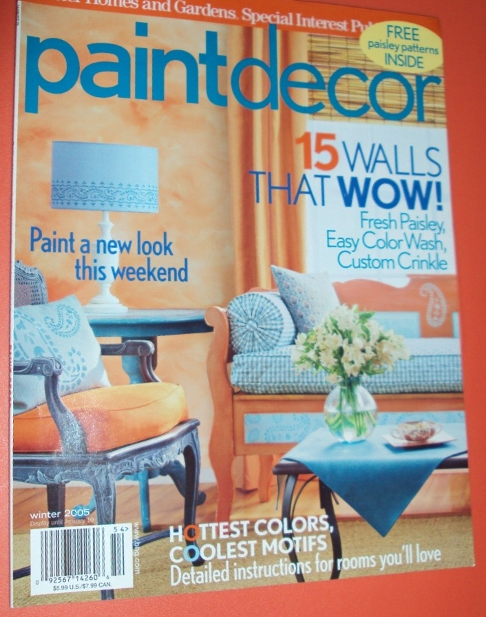 Better Homes & Garden Winter Paint Decor Back Issue 2005 Magazine Hottest Colors