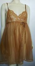 Vintage Van Raalte Sheer Tan Night Gown  - $29.00