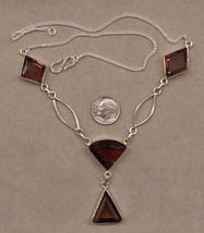 """unique19""""  AMETHYST and  sterling silver necklace SJ411-20 - $49.99"""
