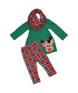 Unique Baby Girls 3 Piece Christmas Rudolph Legging Set (5T) Red - $24.99