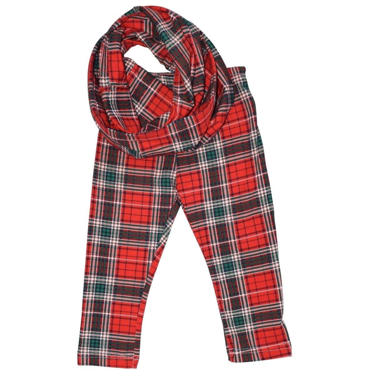 Unique Baby Girls 3 Piece Christmas Rudolph Legging Set (6) Red