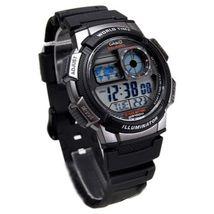 Casio Men's AE1000W-1BVCF Silver-Tone and Black Digital Sport Watch - $36.86 CAD