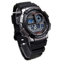 Casio Men's AE1000W-1BVCF Silver-Tone and Black Digital Sport Watch - $27.90