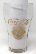 Coke Coca Cola Glas 75. Jubiläum Gold Bedruckt Klare Wasserglas 1976 Vin... - $13.11