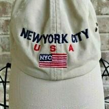 New York City Baseball Cap Khaki Adjustable American Flag USA  Travel So... - $14.54