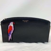 Nwt Specialty Kate Spade Beaded Flock Party Parrot Rio East West Black Bag - $99.00