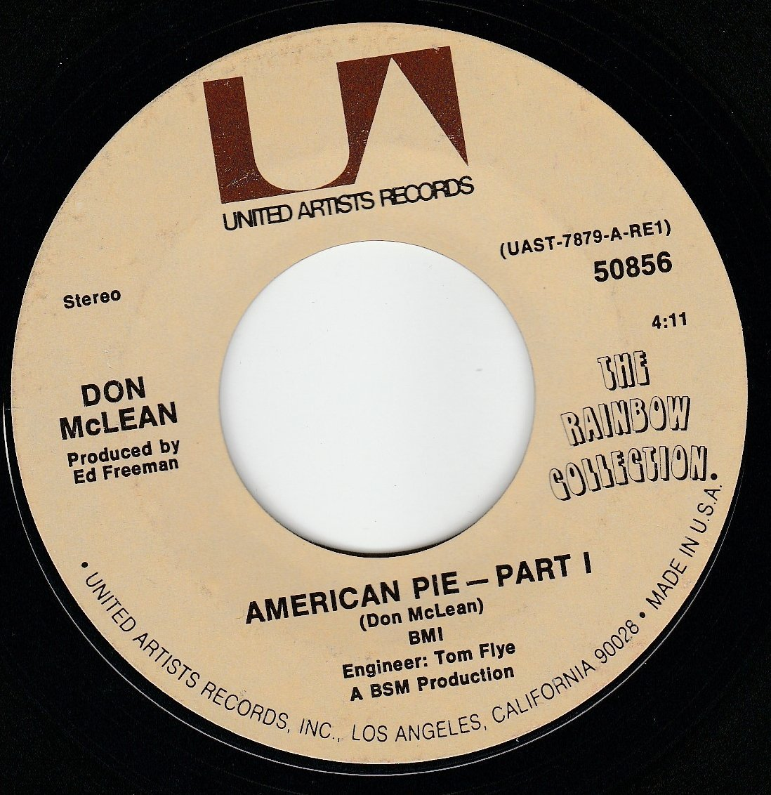 45vinylrecord american pie part 1 2 7 45 rpm vinyl. Black Bedroom Furniture Sets. Home Design Ideas