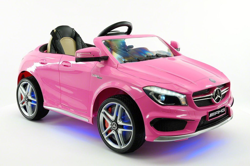 Mercedes cla45 kids ride on toy car 12v electric ride on for Toys r us motorized cars