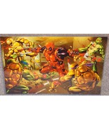Deadpool vs The TMNT Glossy Art Print 11 x 17 In Hard Plastic Sleeve - $24.99