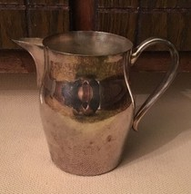 Vintage Silverplate Water Pitcher by Fina Silver Plate Pitcher with Ice ... - $11.29
