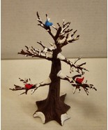 Vintage Dept 56 -9in plastic tree w-birds & snow - €9,14 EUR