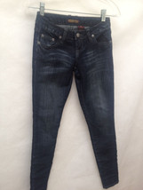 "ZD Zana Di 0 Blue Jeans Dark Wash Denim Stretch Super Skinny Inseam 29 1/2"" - $16.64"