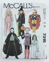 mccalls halloween costume pattern xs princess dracula hero spaceman angel pa146 692