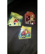 Vintage Costume Jewelry Houses by Lucinda Pin Lot of 3 - $15.00