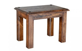 Quality Rustic Walnut Laredo Series End Table - $272.25