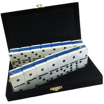 Domino Double Six - Blue & White Two Tone Tile Jumbo Tournament Size w/S... - $39.03
