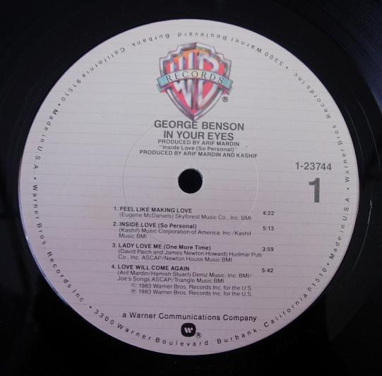 George Benson - In Your Eyes - Warner Bros. 1-23744