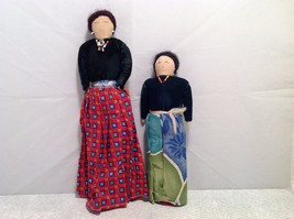 Vintage hand made two sisters primitive dolls image 5