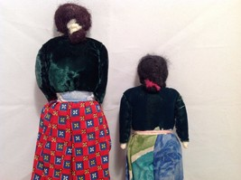 Vintage hand made two sisters primitive dolls image 4